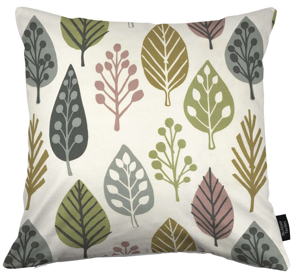 McAlister Textiles Magda Cotton Print Blush Pink Cushion Cushions and Covers Cover Only 43cm x 43cm