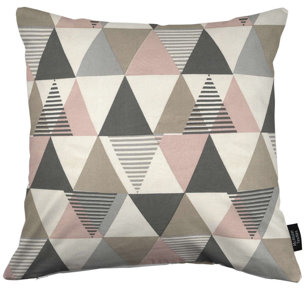McAlister Textiles Vita Cotton Print Blush Pink Cushion Cushions and Covers Cover Only 43cm x 43cm