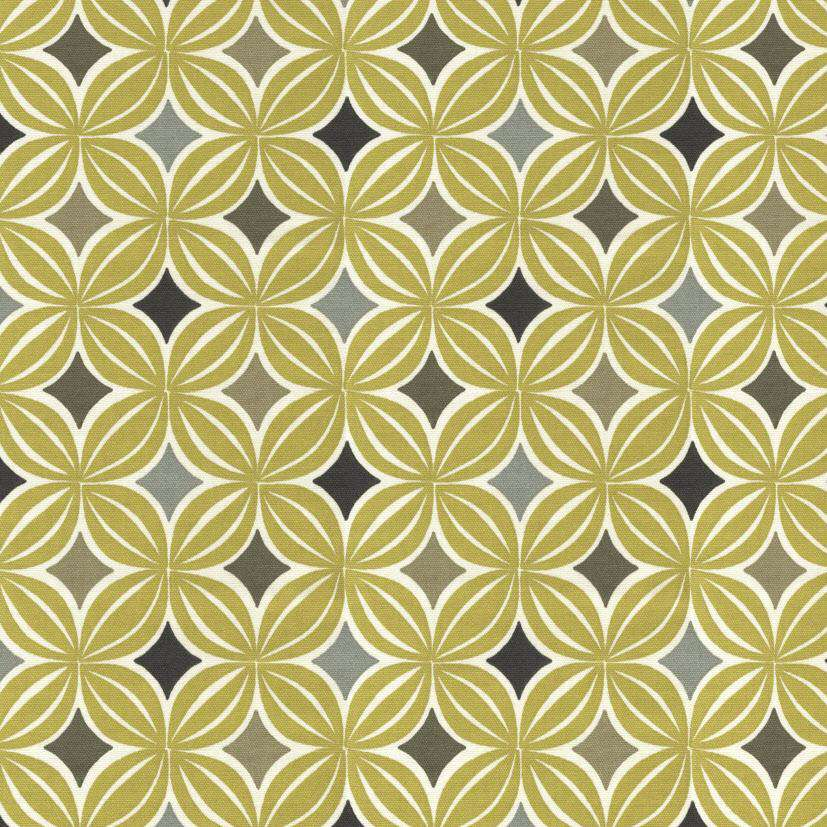 McAlister Textiles Laila Cotton Ochre Yellow Printed Fabric Fabrics 1 Metre