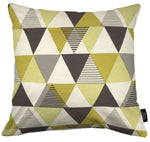 Load image into Gallery viewer, McAlister Textiles Vita Cotton Print Ochre Yellow Cushion Cushions and Covers Cover Only 43cm x 43cm