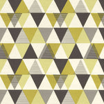 Cargar imagen en el visor de la galería, McAlister Textiles Vita Cotton Print Ochre Yellow Curtains Tailored Curtains