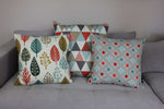 Load image into Gallery viewer, McAlister Textiles Vita Cotton Print Burnt Orange Cushion Cushions and Covers