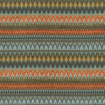 Load image into Gallery viewer, McAlister Textiles Curitiba Aztec Orange + Teal Fabric Fabrics 1 Metre