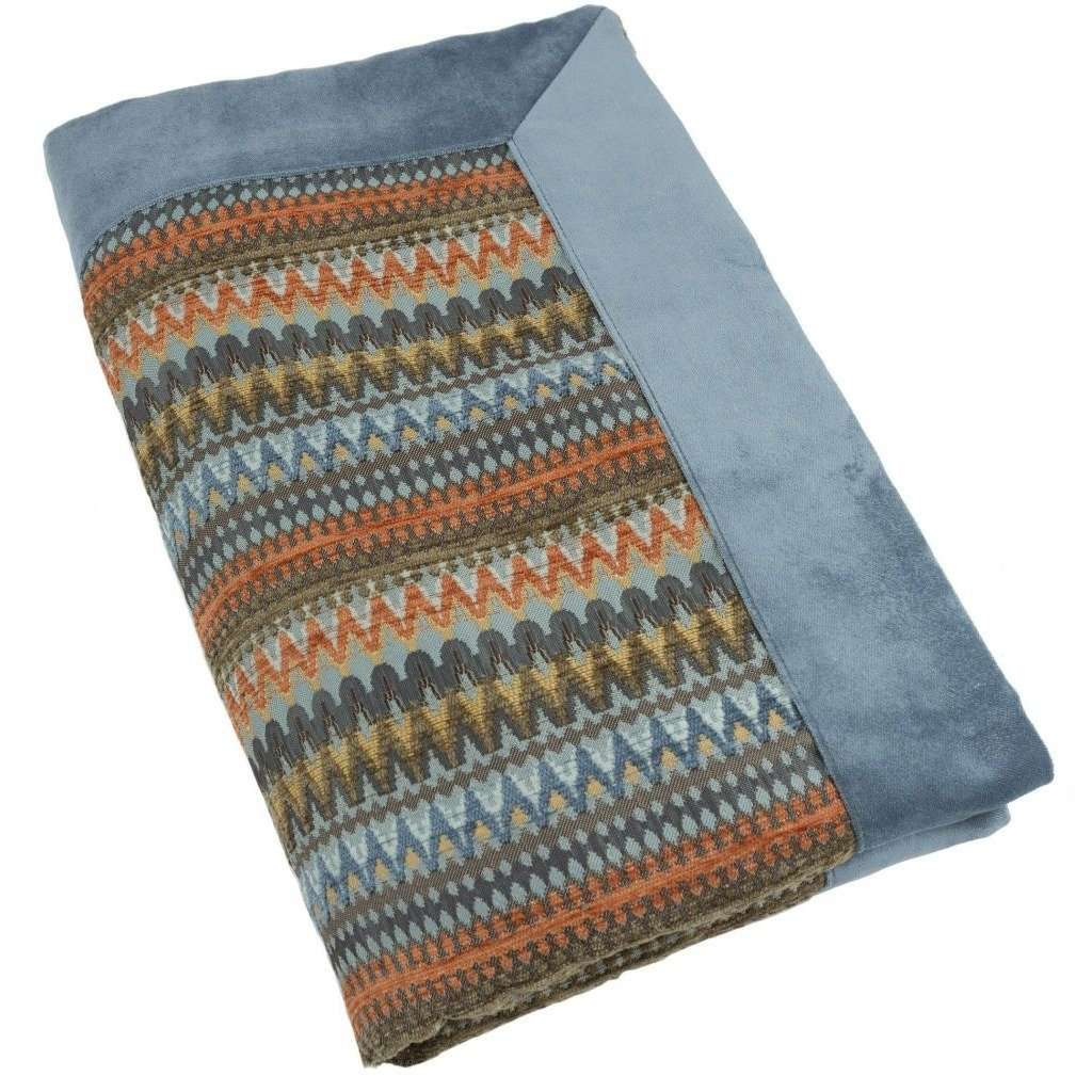 McAlister Textiles Curitiba Burnt Orange + Teal Throw Throws and Runners