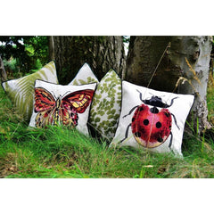 McAlister Textiles Bug's Life Tapestry Butterfly Cushion-Cushions and Covers-