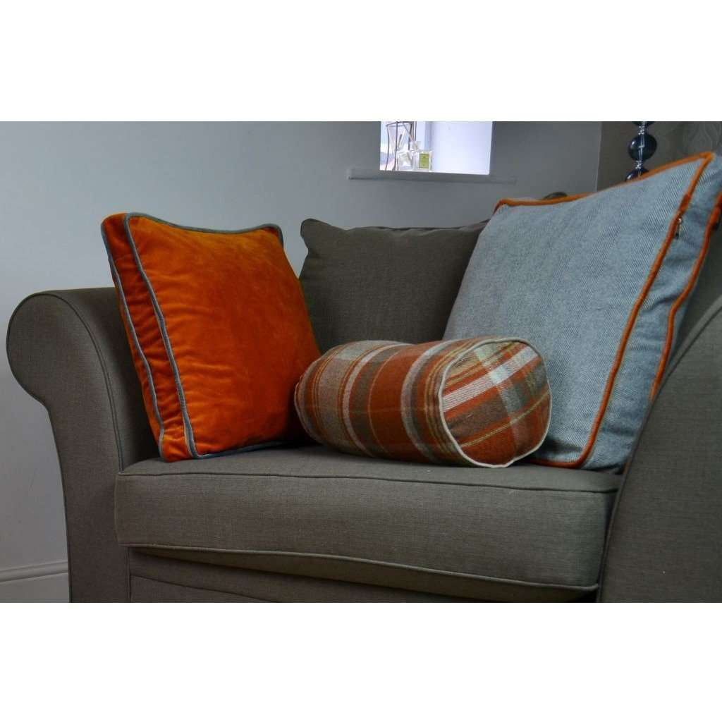 McAlister Textiles Deluxe Velvet Burnt Orange Box Cushion Box Cushions