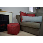 Load image into Gallery viewer, McAlister Textiles Deluxe Herringbone Red Box Cushion Box Cushions