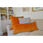 Load image into Gallery viewer, McAlister Textiles Deluxe Herringbone Grey + Orange Box Cushion Box Cushions