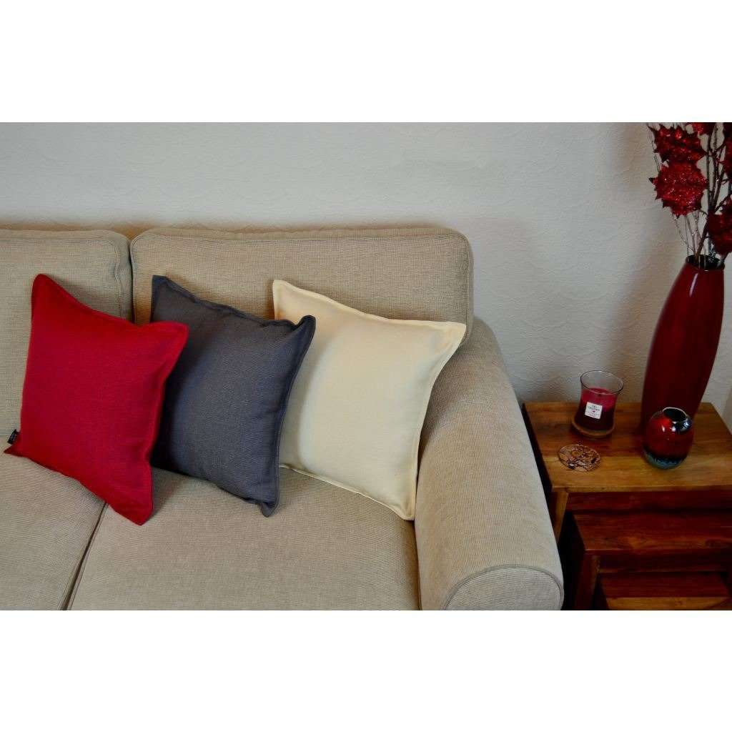 McAlister Textiles Savannah Charcoal Grey Cushion Cushions and Covers