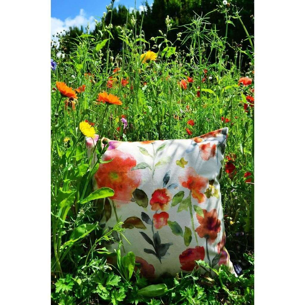 McAlister Textiles Renoir Floral Orange Velvet Cushion Cushions and Covers