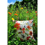Load image into Gallery viewer, McAlister Textiles Renoir Floral Orange Velvet Cushion Cushions and Covers