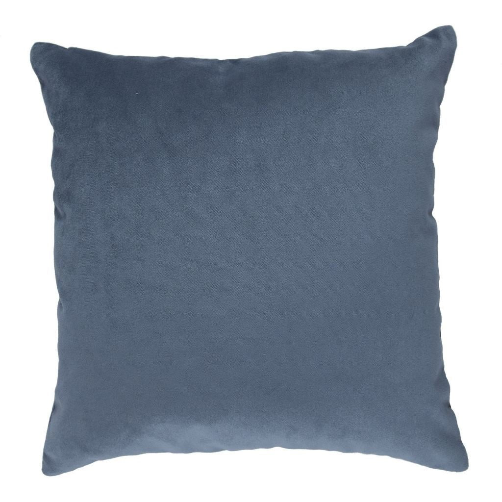 McAlister Textiles Diagonal Patchwork Velvet Blue, Gold + Grey Cushion Cushions and Covers