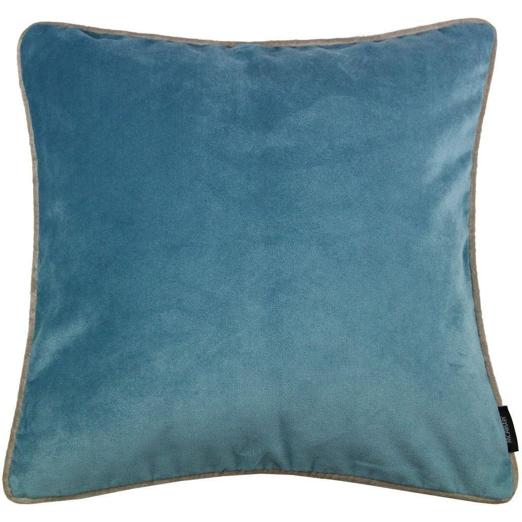 McAlister Textiles Matt Duck Egg Blue Velvet Cushion Cushions and Covers Cover Only 43cm x 43cm