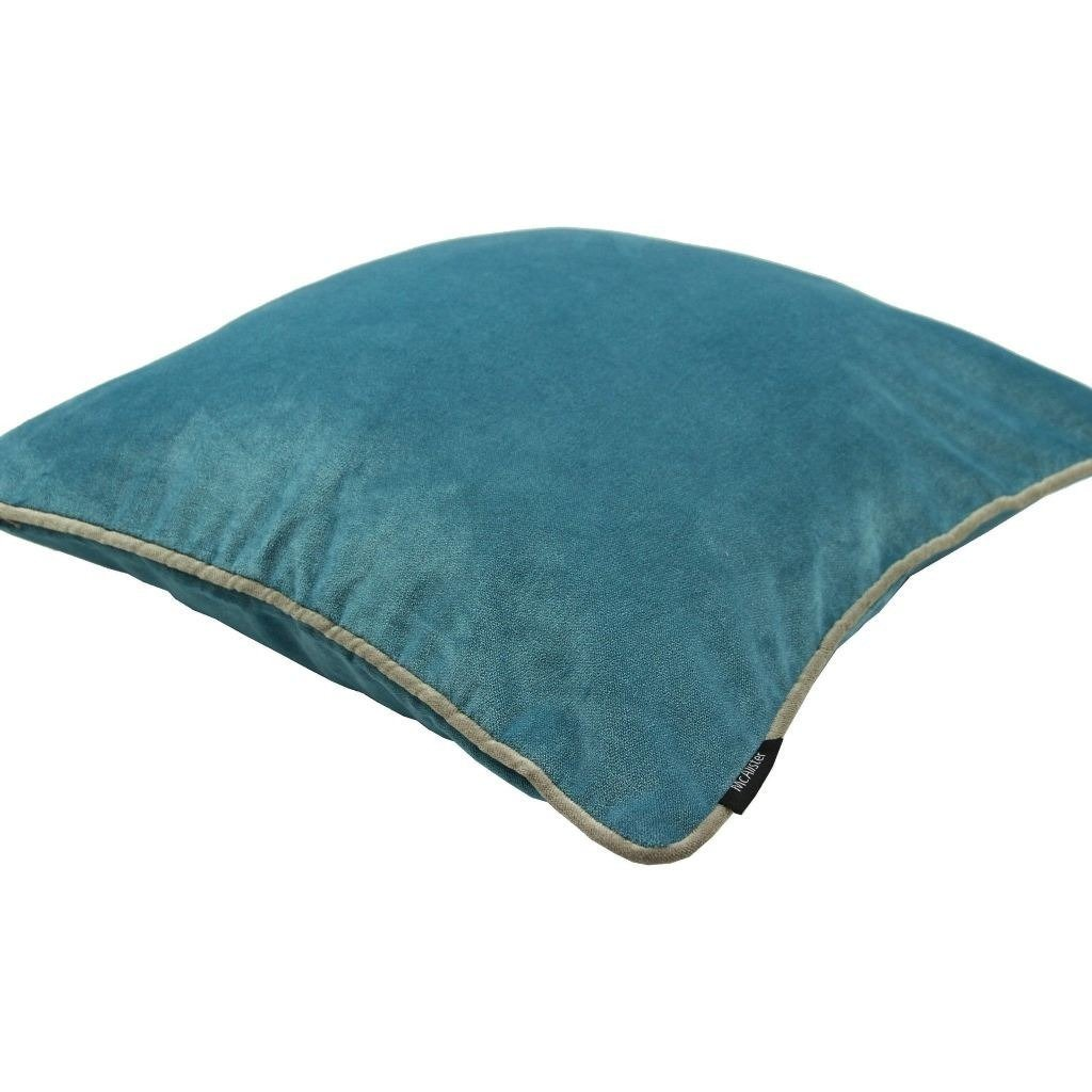 McAlister Textiles Matt Duck Egg Blue Velvet Pillow Pillow