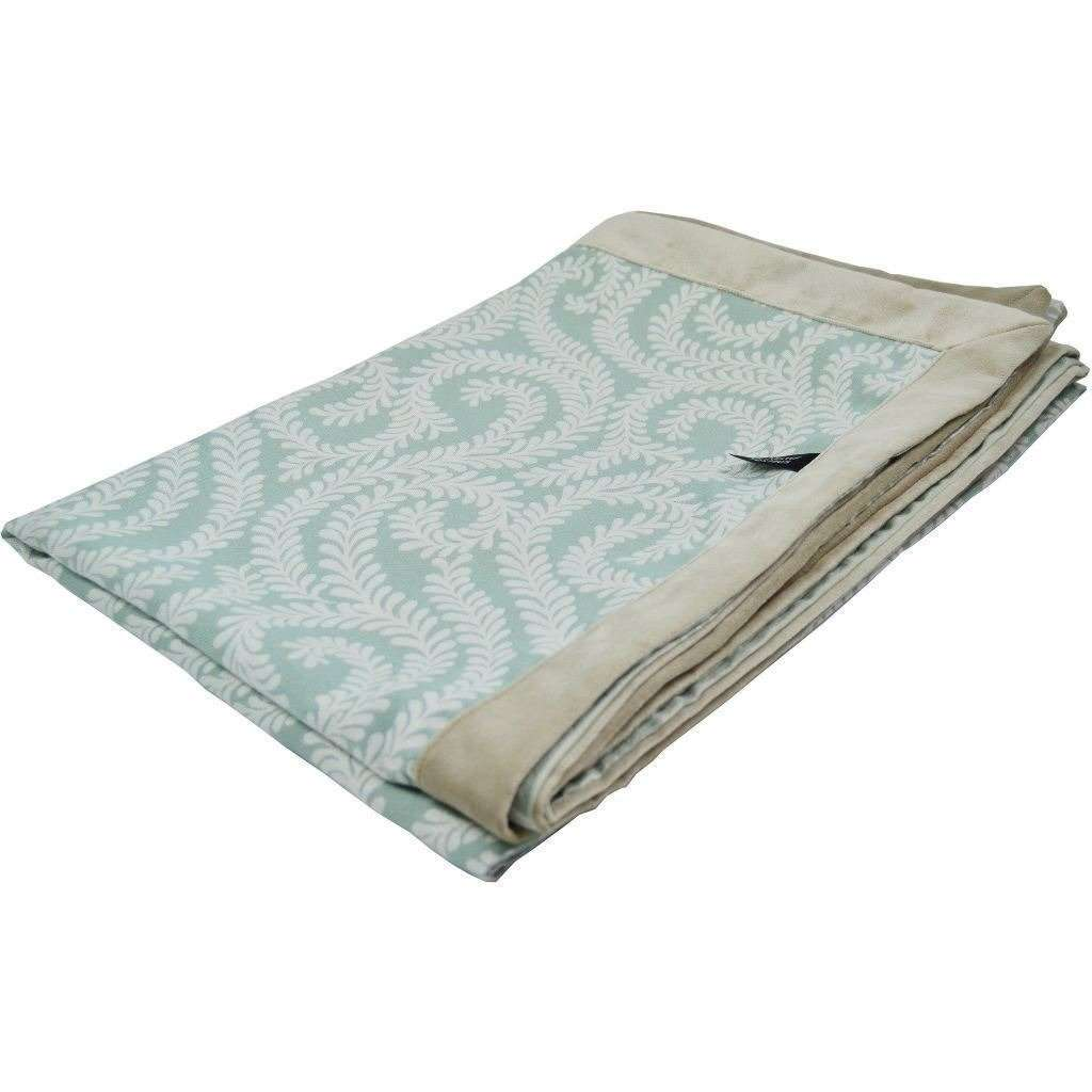 McAlister Textiles Little Leaf Duck Egg Blue Throws & Runners Throws and Runners Regular (130cm x 200cm)