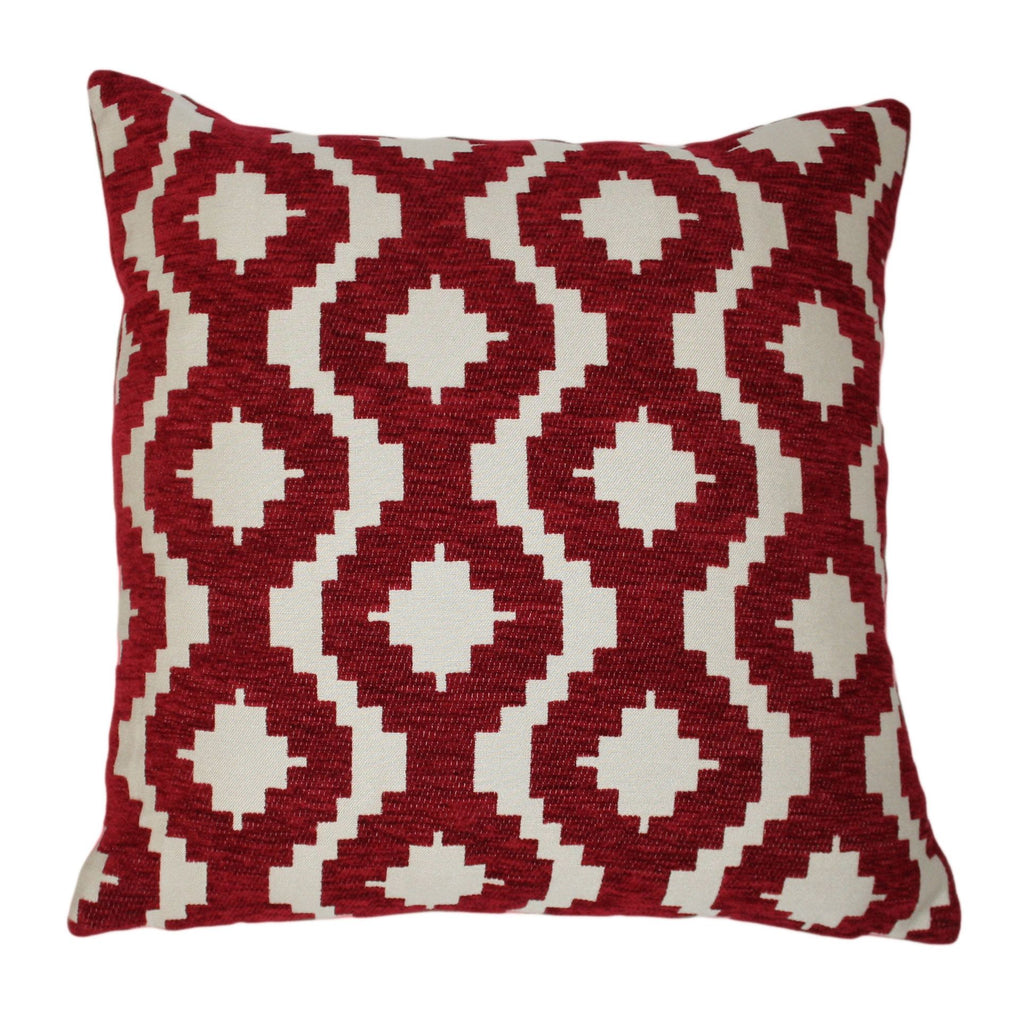 McAlister Textiles Arizona Geometric Red Pillow Pillow Cover Only 43cm x 43cm