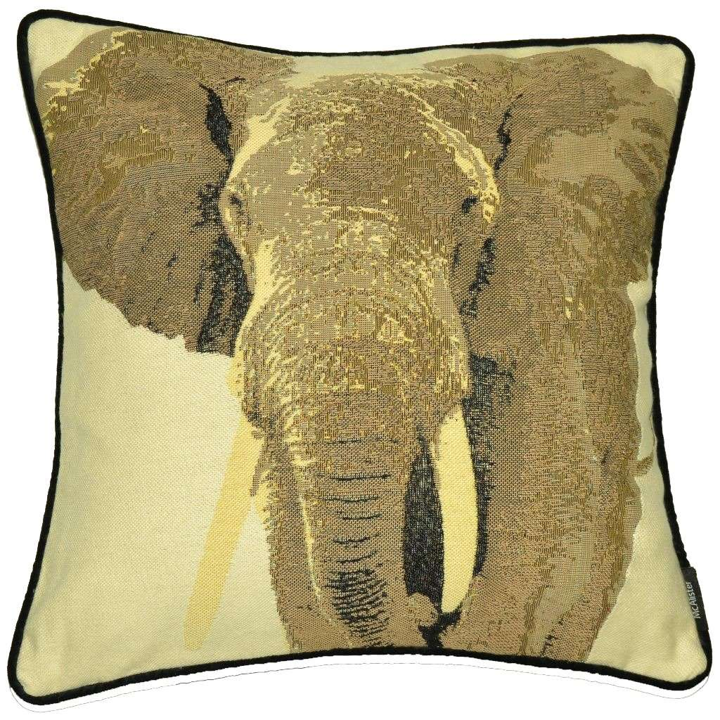 McAlister Textiles Tapestry Grey Elephant Cushion Cushions and Covers Cover Only