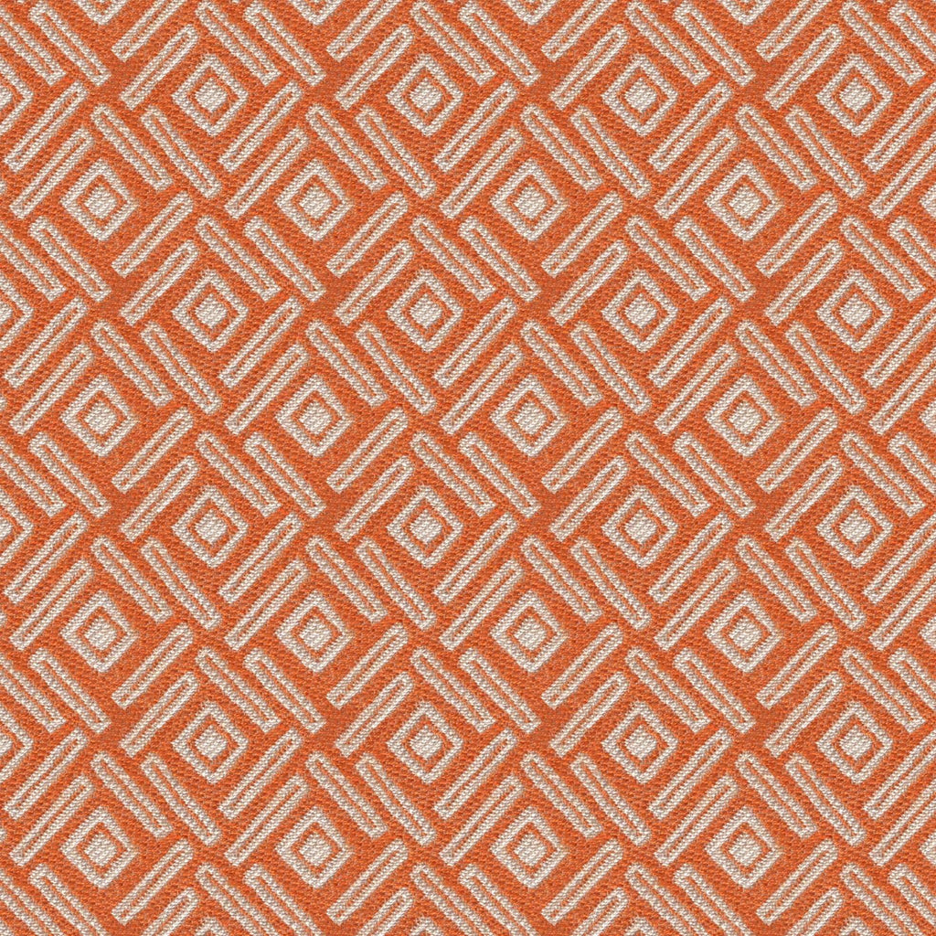 McAlister Textiles Elva Geometric Burnt Orange Roman Blind Roman Blinds