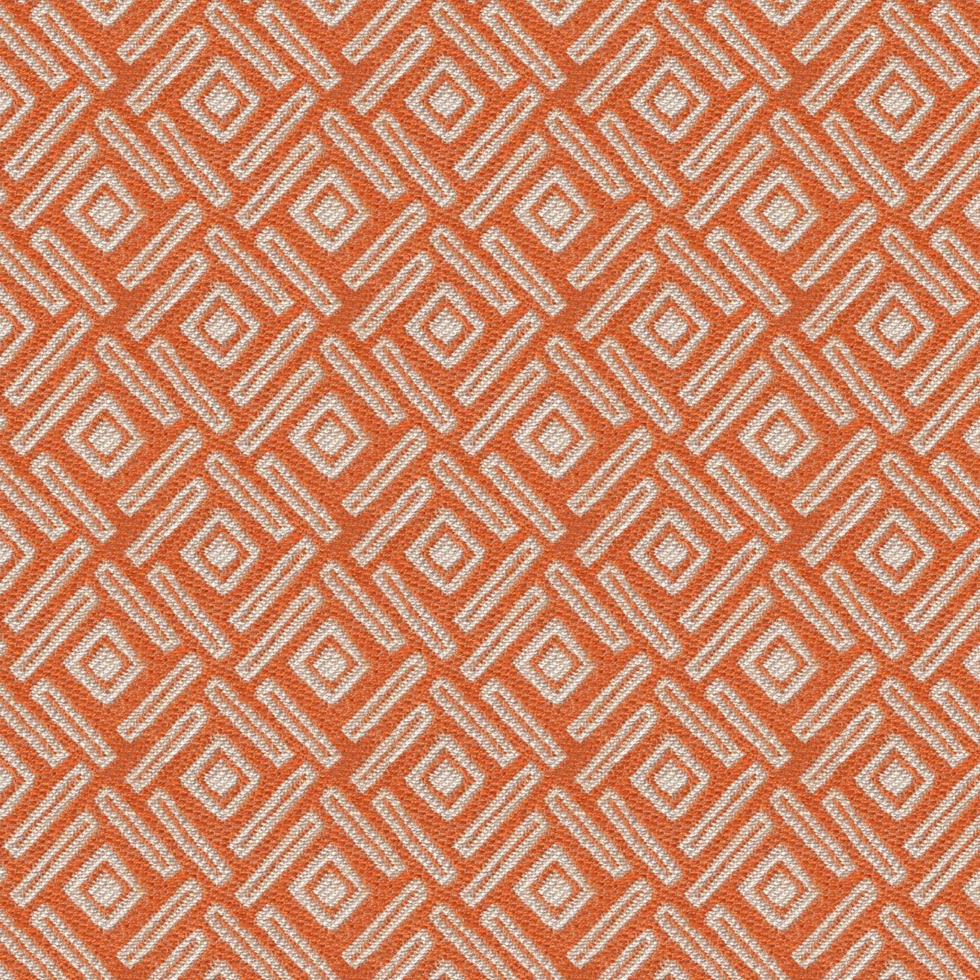 McAlister Textiles Elva Geometric Burnt Orange Fabric Fabrics 1 Metre
