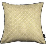 Load image into Gallery viewer, McAlister Textiles Elva Geometric Ochre Yellow Cushion Cushions and Covers Cover Only 43cm x 43cm