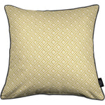 Load image into Gallery viewer, McAlister Textiles Elva Geometric Ochre Yellow Pillow Pillow Cover Only 43cm x 43cm