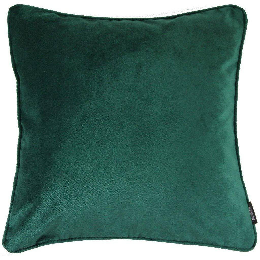 McAlister Textiles Matt Emerald Green Velvet Cushion Cushions and Covers Cover Only 43cm x 43cm