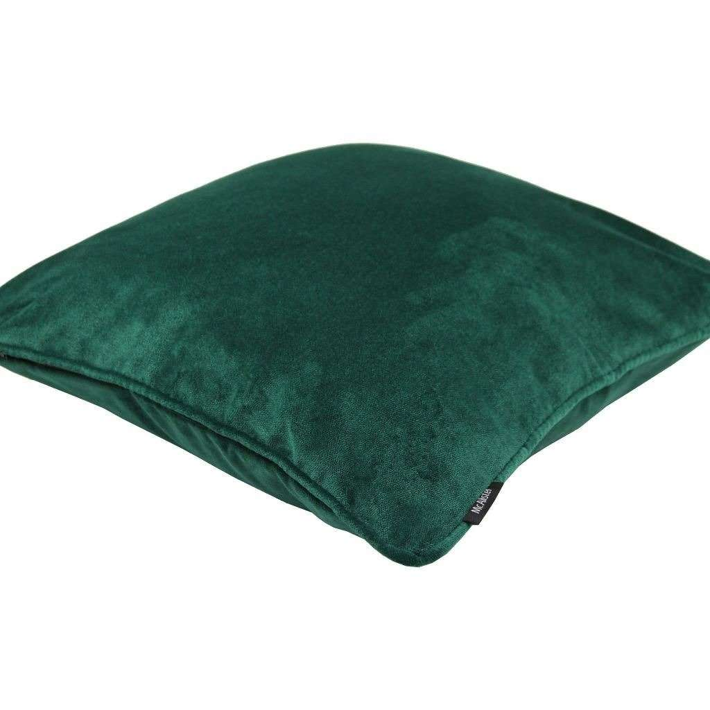 McAlister Textiles Matt Emerald Green Velvet Cushion Cushions and Covers