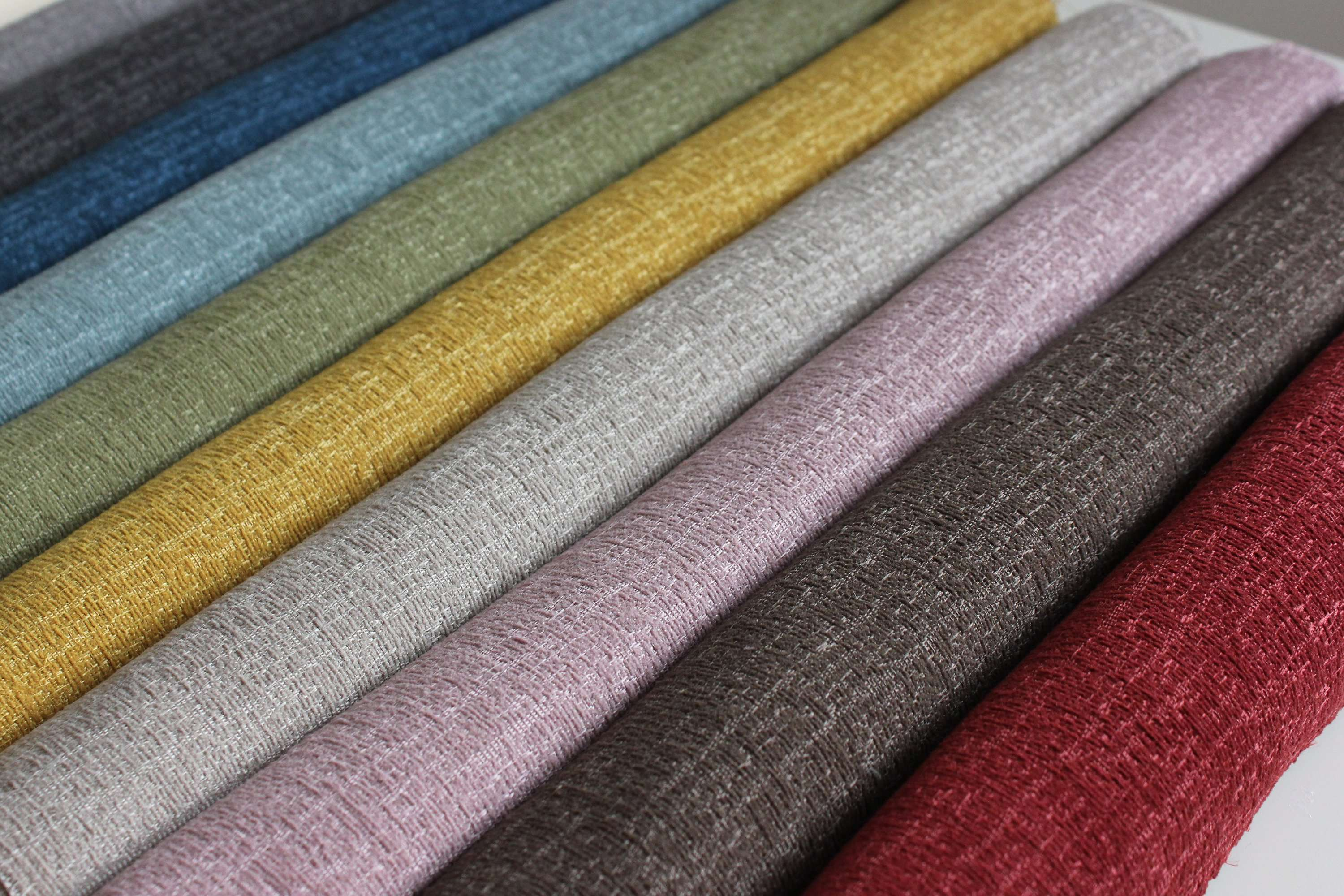 McAlister Textiles Eternity Grey Chenille Fabric Fabrics