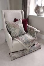 Load image into Gallery viewer, McAlister Textiles Floris Vintage Floral Linen Throw Blanket Throws and Runners