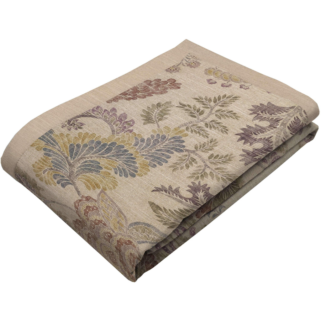 McAlister Textiles Floris Vintage Floral Linen Throw Blanket Throws and Runners Regular (130cm x 200cm)
