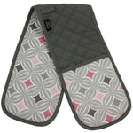 Load image into Gallery viewer, McAlister Textiles Laila Pink Cotton Print Double Oven Mitts Kitchen Accessories
