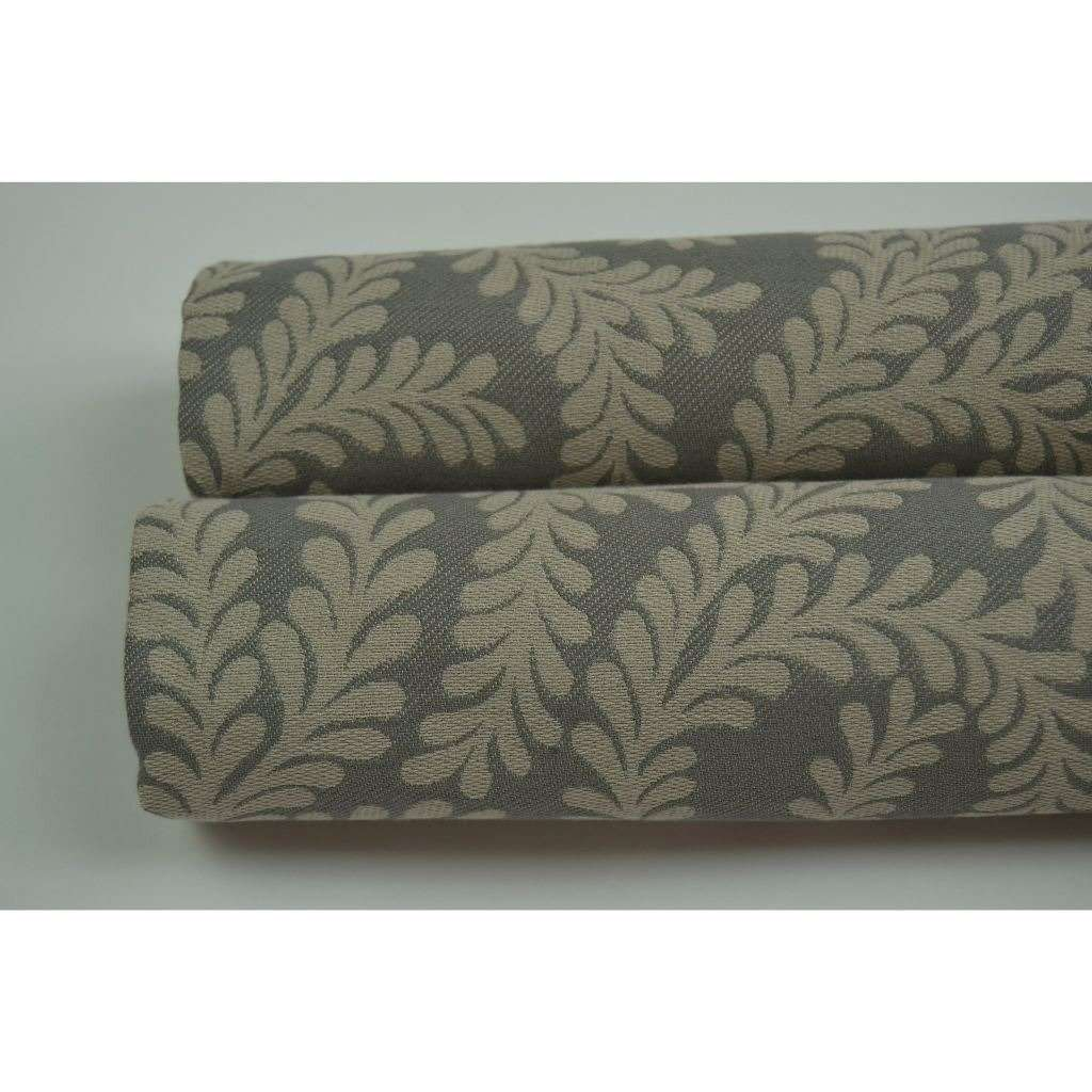McAlister Textiles Little Leaf Charcoal Grey Fabric Fabrics