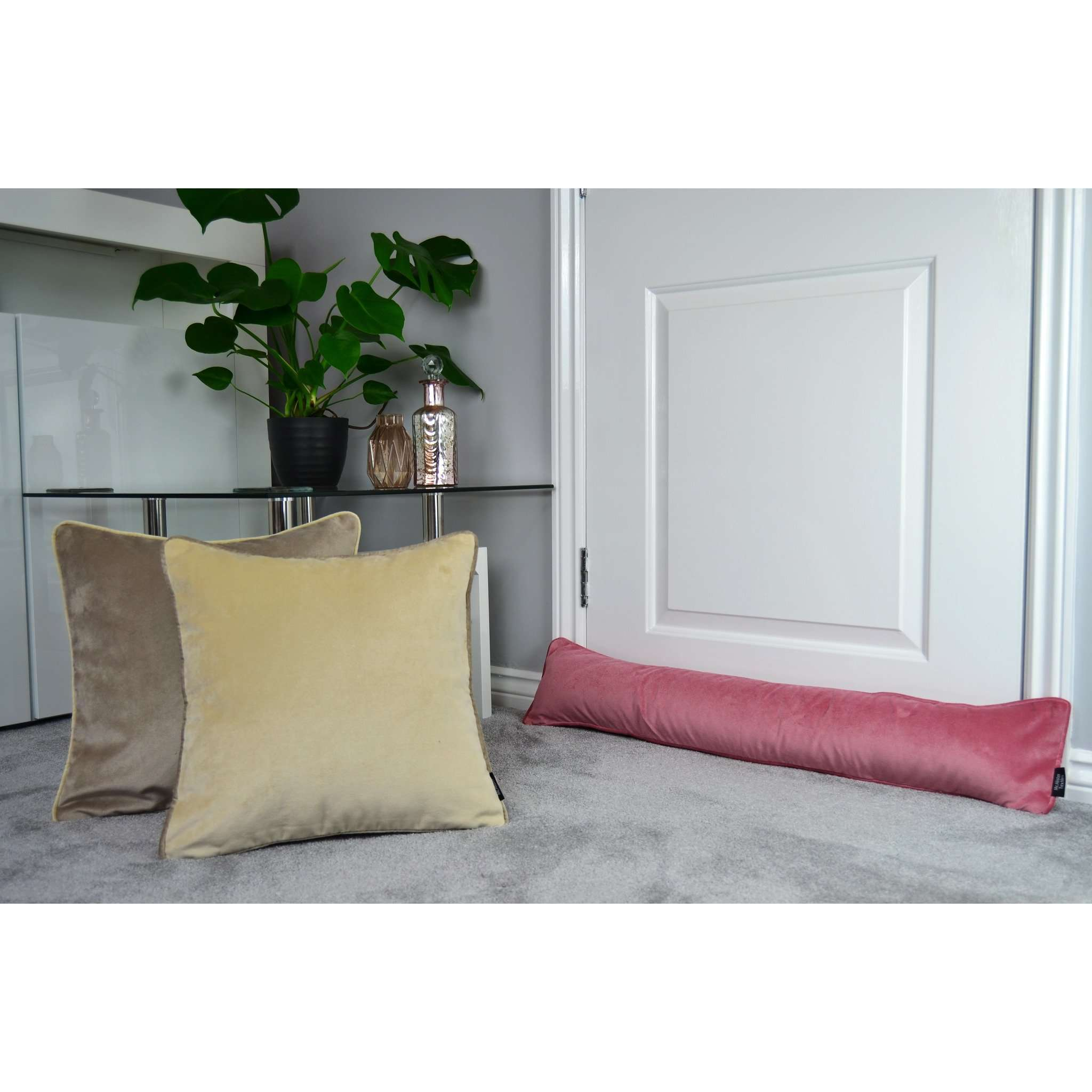 McAlister Textiles Matt Blush Pink Velvet Draught Excluder Draught Excluders