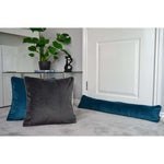 Charger l'image dans la galerie, McAlister Textiles Matt Blue Teal Velvet Draught Excluder Draught Excluders