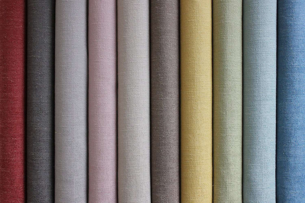 McAlister Textiles Harmony Linen Blend Taupe Textured Fabric Fabrics