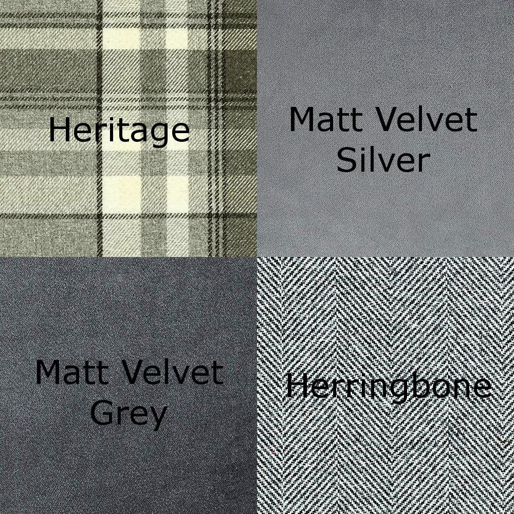 McAlister Textiles Heritage Charcoal Grey Tartan Home Decor Design Set Regular (130cm x 200cm)