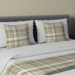 Load image into Gallery viewer, McAlister Textiles Heritage Beige Cream Tartan Bedding Set Bedding Set Runner (50x240cm) + 2x Cushion Covers