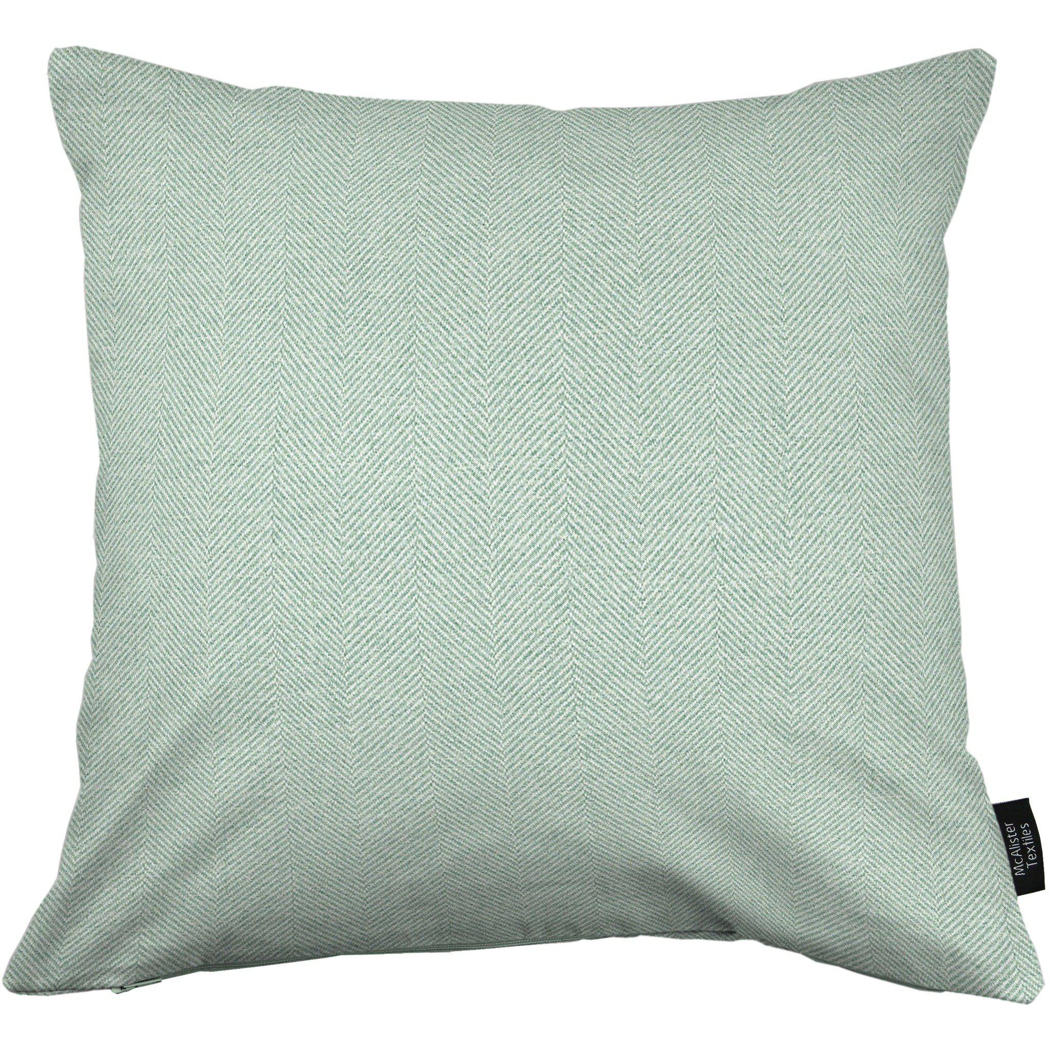 McAlister Textiles Herringbone Duck Egg Blue Cushion Cushions and Covers Cover Only 43cm x 43cm