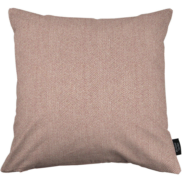 McAlister Textiles Herringbone Lilac Purple Cushion Cushions and Covers Cover Only 43cm x 43cm
