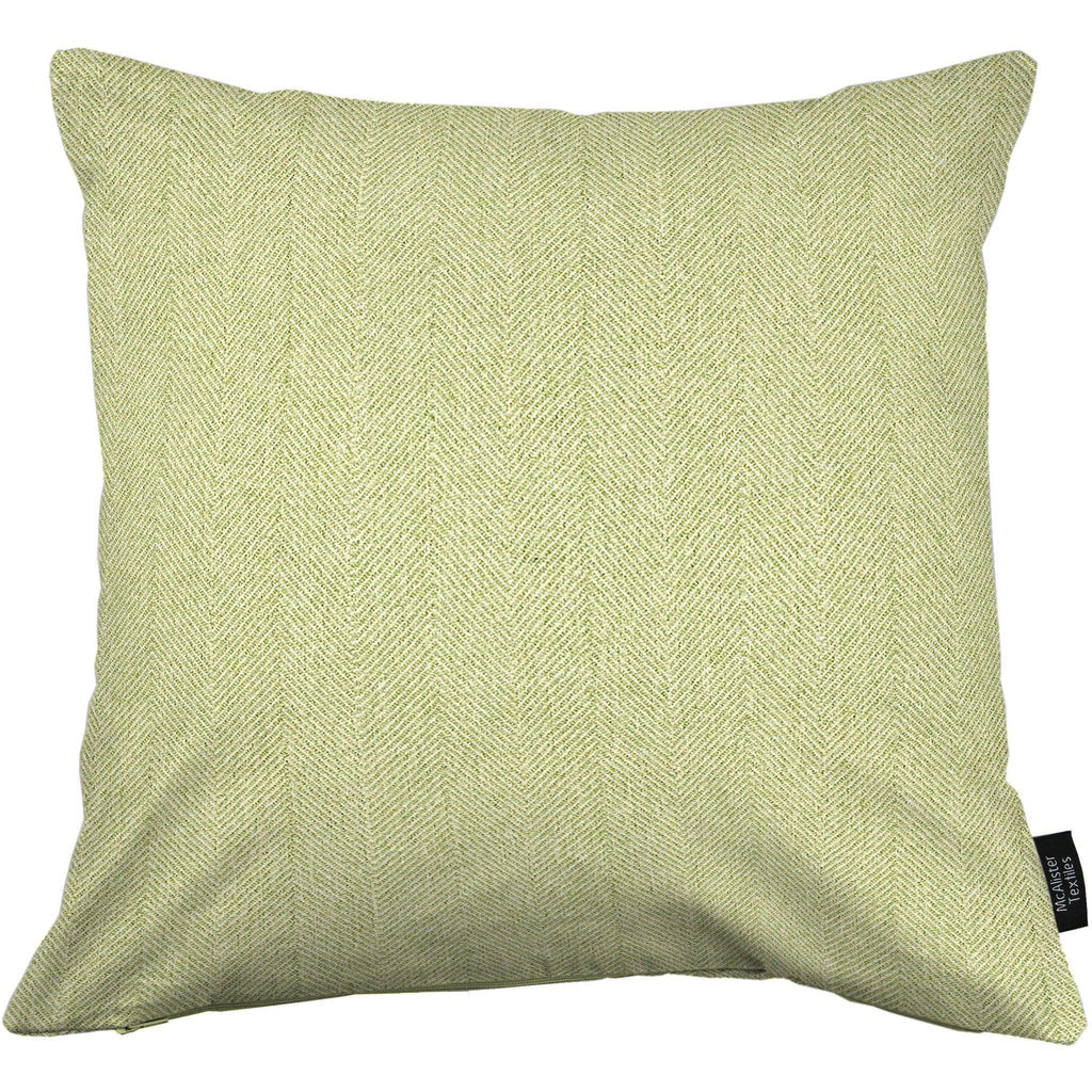 McAlister Textiles Herringbone Sage Green Pillow Pillow Cover Only 43cm x 43cm