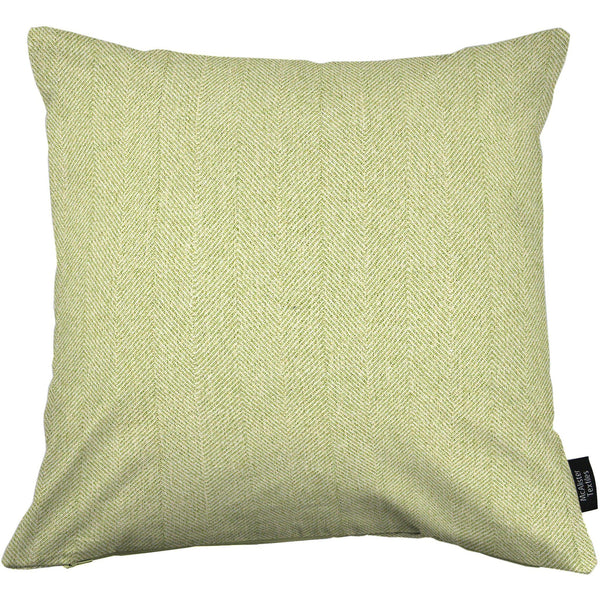 McAlister Textiles Herringbone Sage Green Cushion Cushions and Covers Cover Only 43cm x 43cm