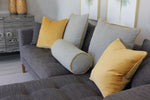 Laden Sie das Bild in den Galerie-Viewer, McAlister Textiles Herringbone Boutique Grey + Yellow Cushion Cushions and Covers