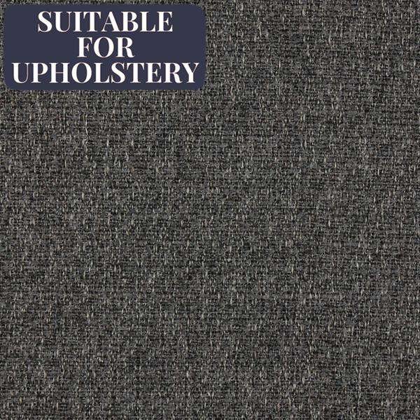 McAlister Textiles Highlands Rustic Plain Charcoal Grey Fabric Fabrics 1/2 Metre