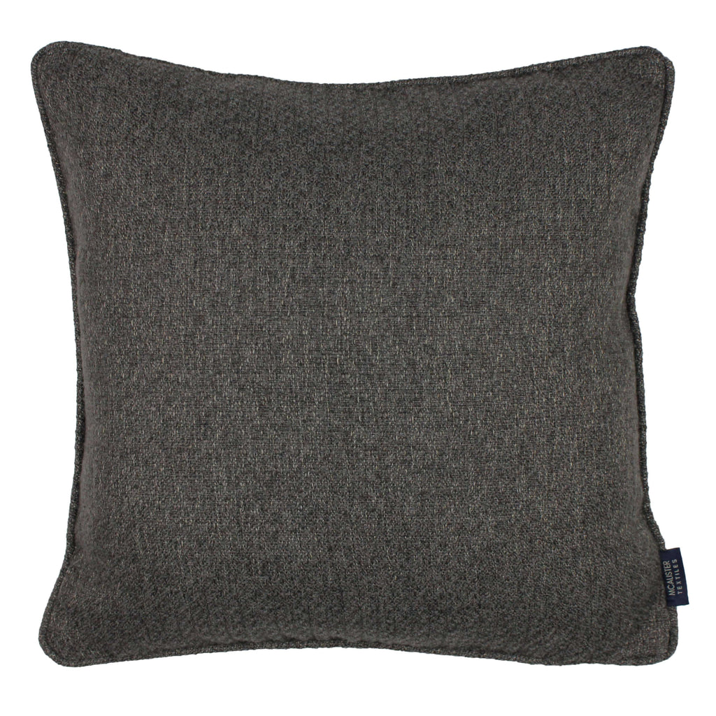 McAlister Textiles Highlands Charcoal Grey Textured Plain Cushion Cushions and Covers Cover Only 49cm x 49cm