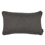 Carica l'immagine nel visualizzatore di Gallery, McAlister Textiles Highlands Charcoal Grey Textured Plain Cushion Cushions and Covers Cover Only 50cm x 30cm