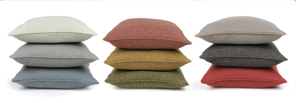 McAlister Textiles Highlands Soft Grey Textured Plain Cushion Cushions and Covers