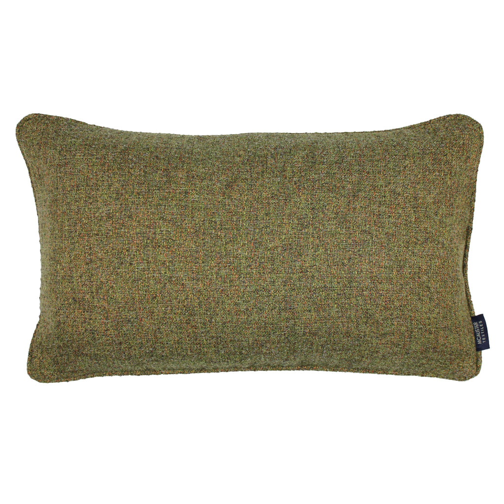 McAlister Textiles Highlands Forest Green Textured Plain Cushion Cushions and Covers Cover Only 50cm x 30cm