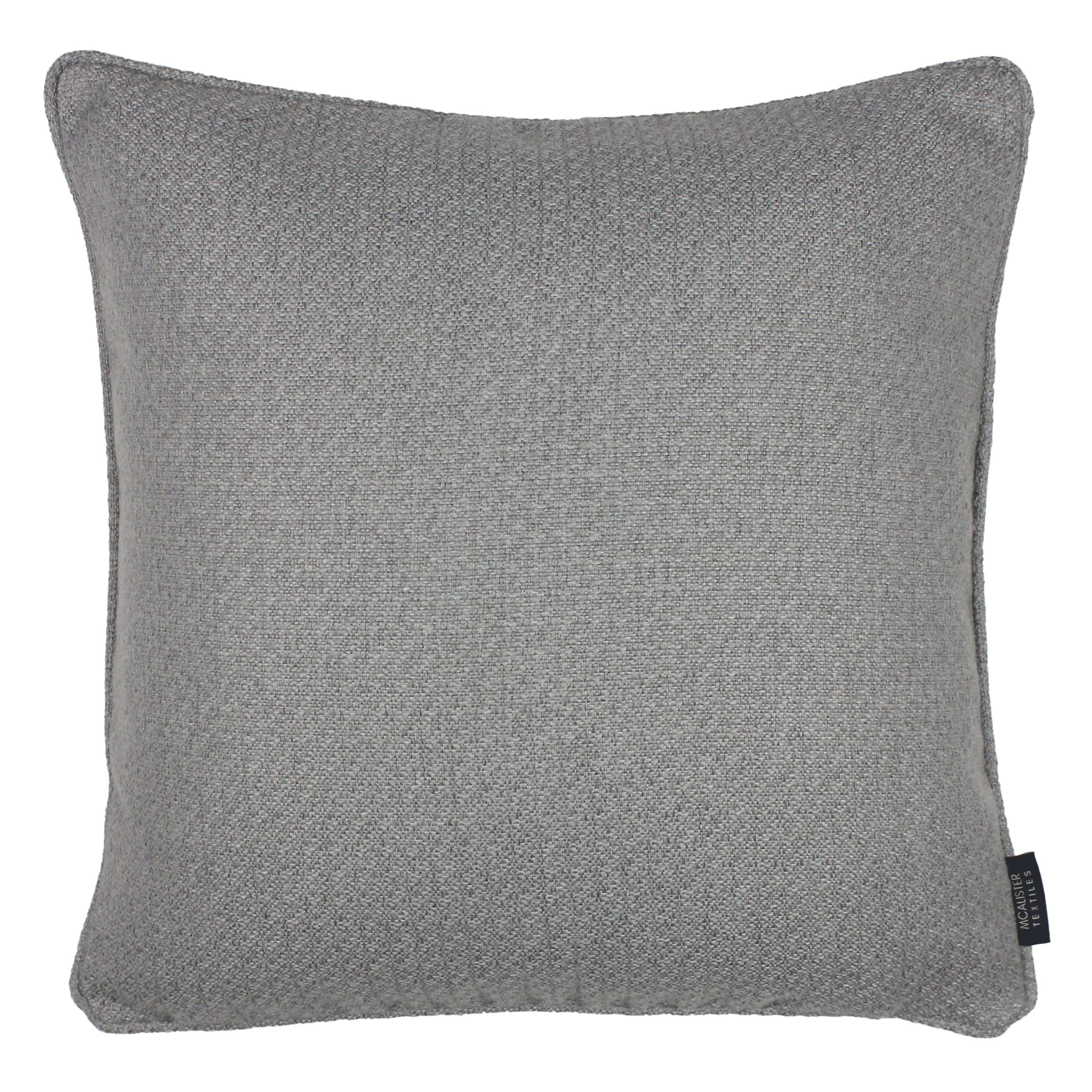 McAlister Textiles Highlands Soft Grey Textured Plain Cushion Cushions and Covers Cover Only 49cm x 49cm