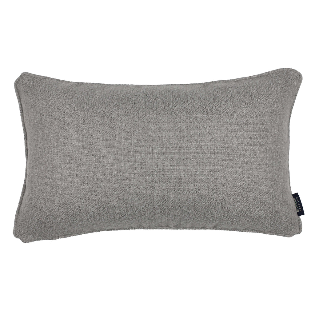 McAlister Textiles Highlands Soft Grey Textured Plain Cushion Cushions and Covers Cover Only 50cm x 30cm