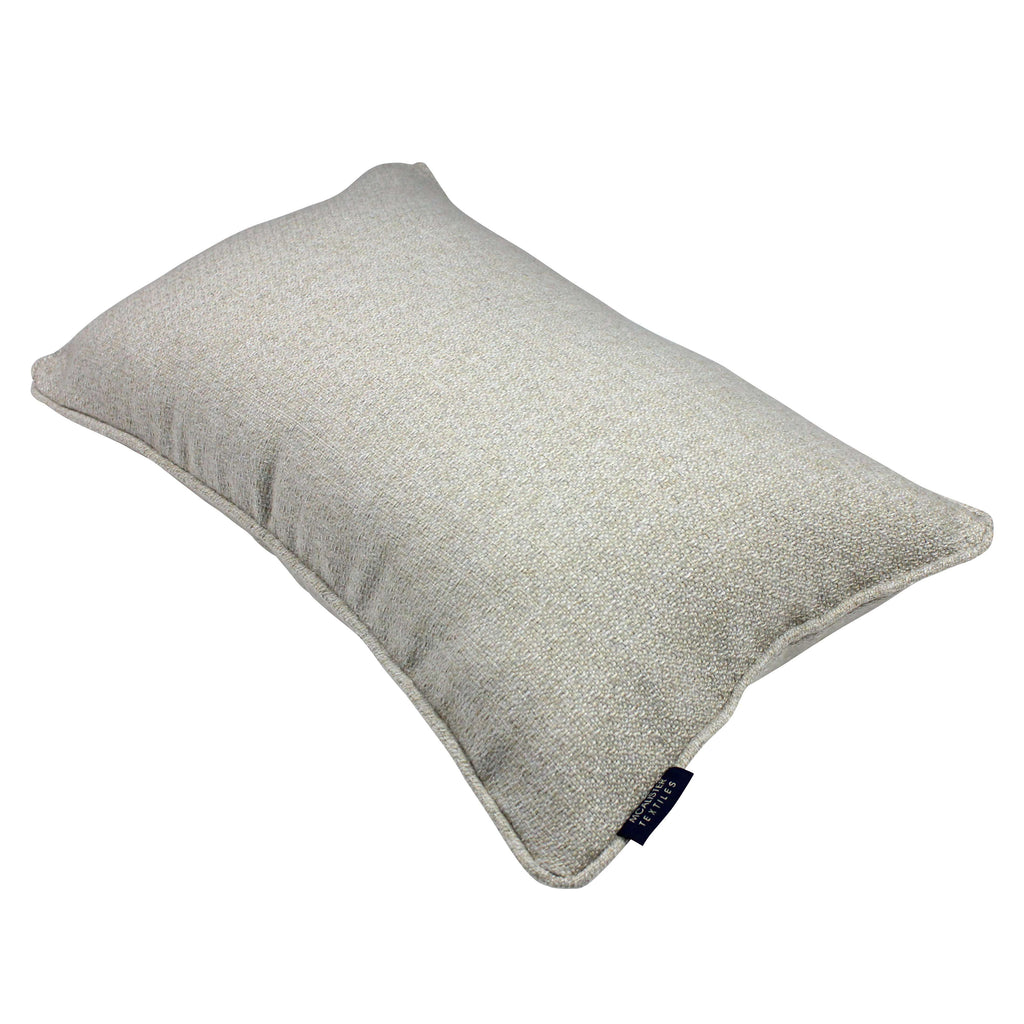 McAlister Textiles Highlands Natural Textured Plain Pillow Pillow